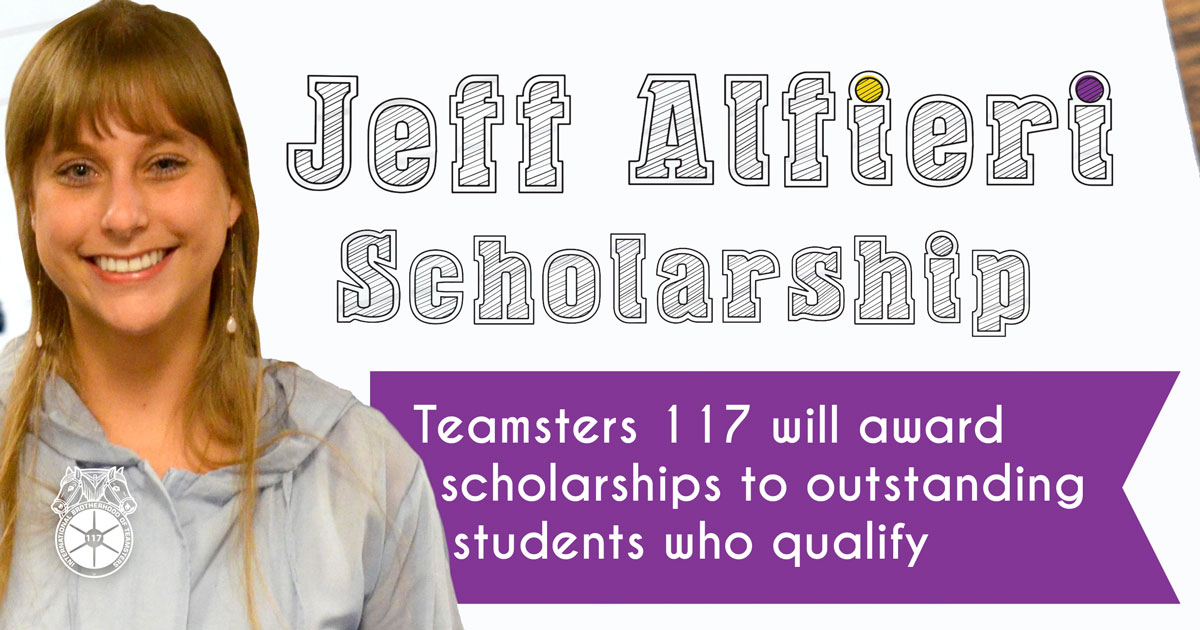 Jeff Alfieri Scholarship for the Kids of Teamsters  - Open Now! Image