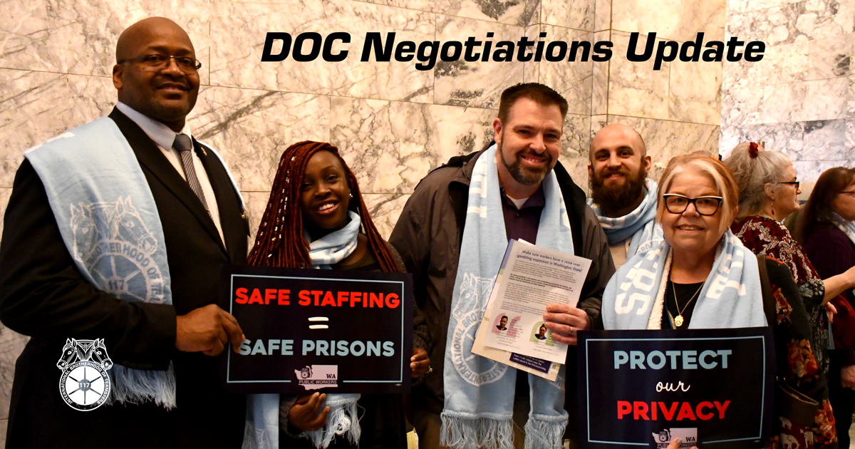 DOC negotiations update, efforts to fight COVID Image