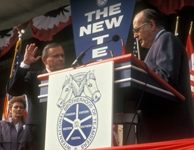 Pat Pagnanella Swears in Ron Carey as General President of the Teamsters in 1991
