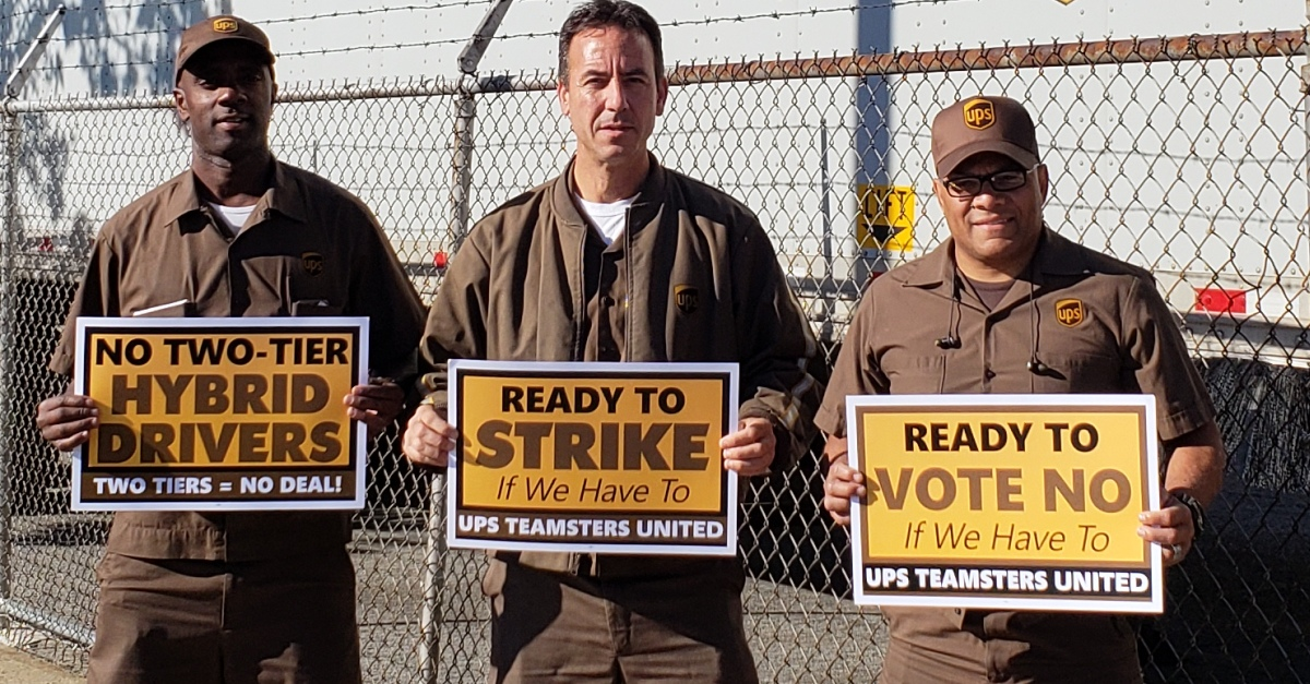 Hoffa, UPS Reach Handshake Deal - Teamsters for a Democratic