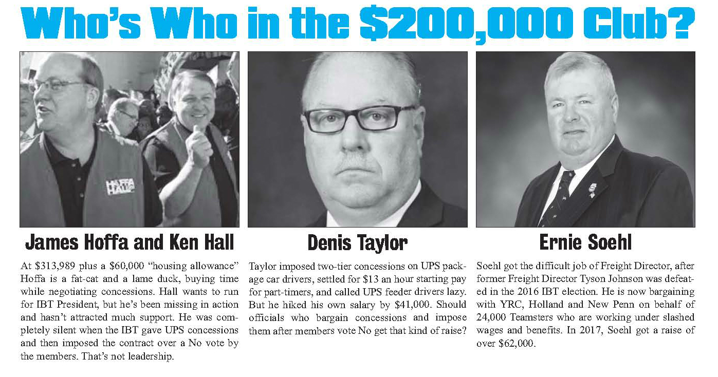 SALARY REPORT—THE $200K CLUB - Teamsters for a Democratic Union
