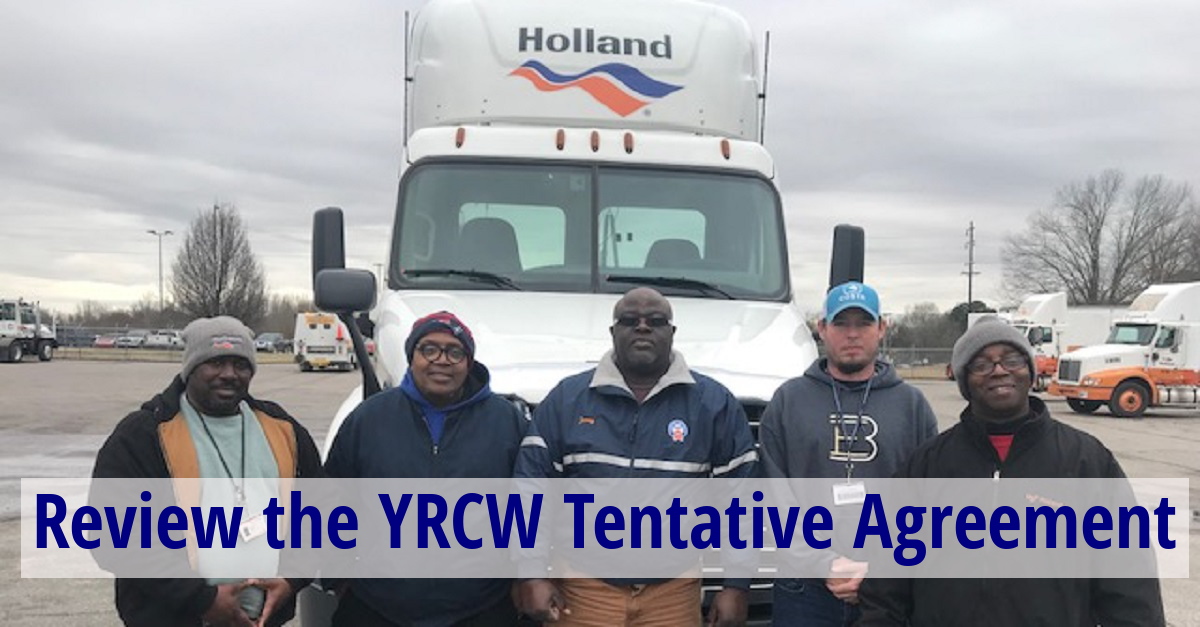 YRCW Contract Available - Members to Vote - Teamsters for a