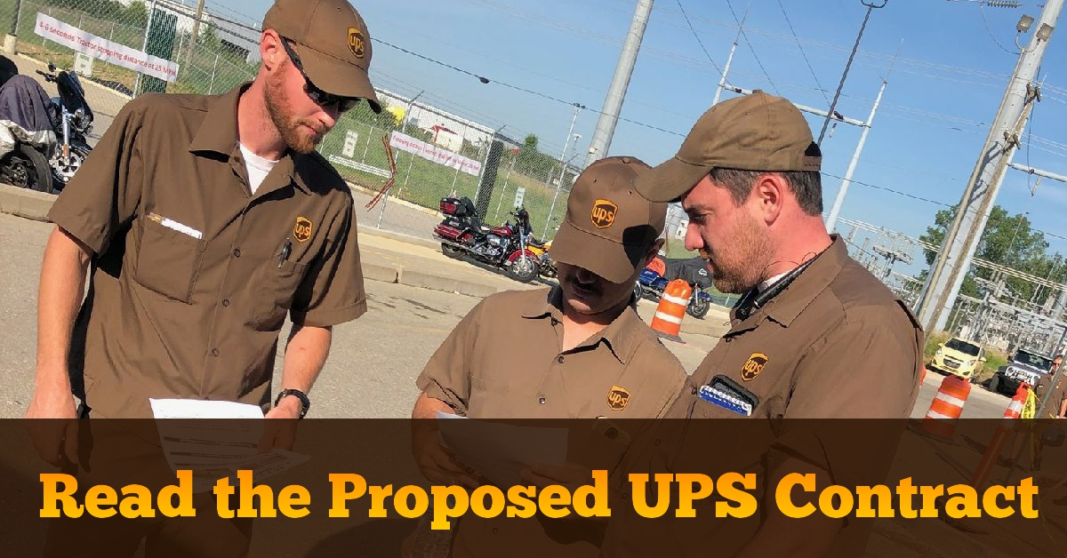 Read The Proposed Ups Deal Ups Teamsters United