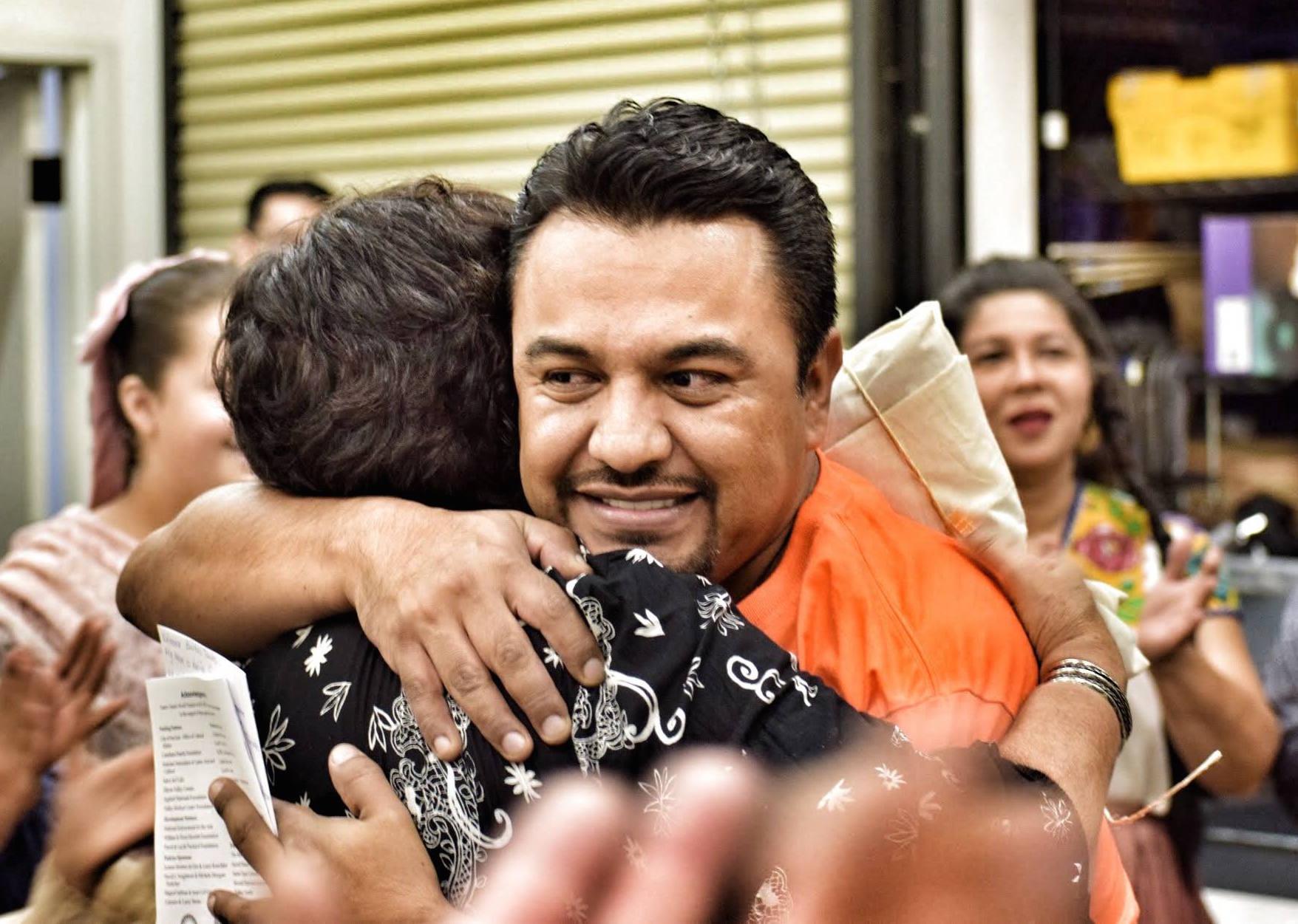 Rodrigo hugs
