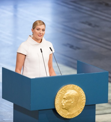 Beatrice Fihn, the Nobel Peace Prize.