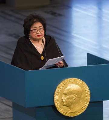 Setsuko Thurlow. Nobel Peace Prize.
