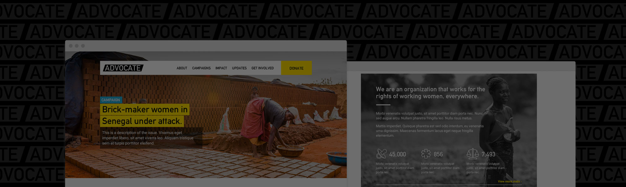 The Advocate Theme for Non-Profits and Organizations