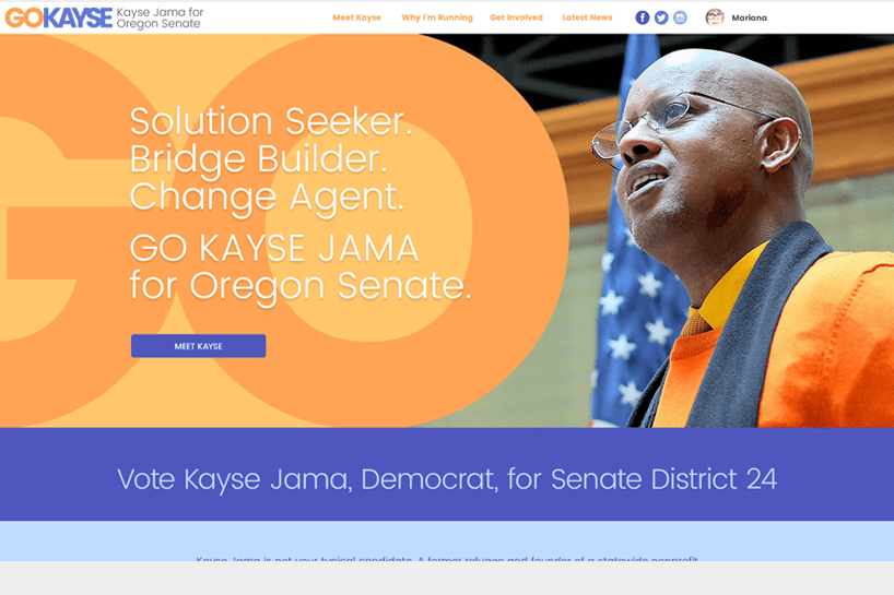 Kayse Jama for Oregon Senate. <a target='_blank' href='http://www.kaysejama.com'>Check it out.</a>