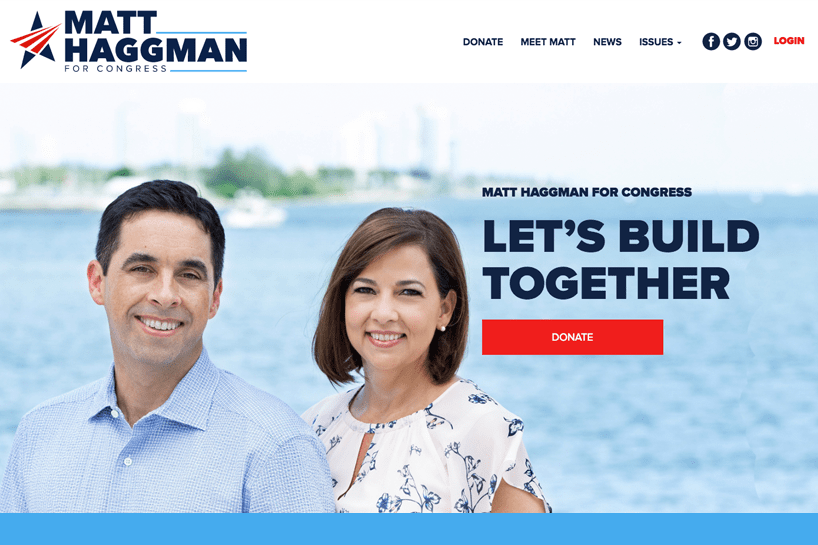 Matt Haggman for US Congress. <a target='_blank' href='http://www.matthaggman.com'>Check it out.</a>