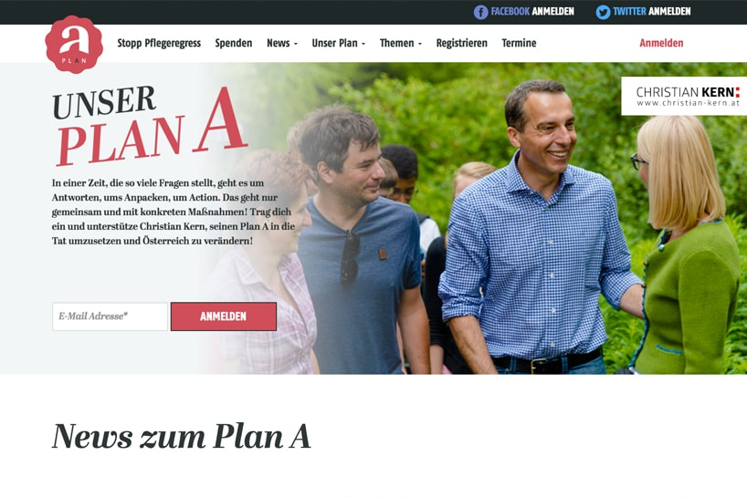 Austria's SPÖ Campaign Mein Plan A<a target='_blank' href='http://www.worauf-warten.at'>Check it out.</a>