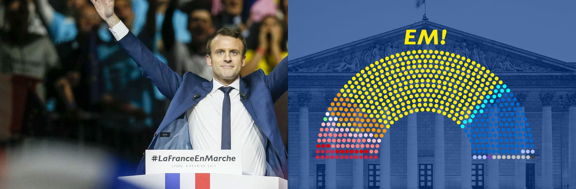 We helped French President Emmanuel Macron's En Marche ! launch over 400 candidate sites that helped the new party win over 60% of the French National Assembly.