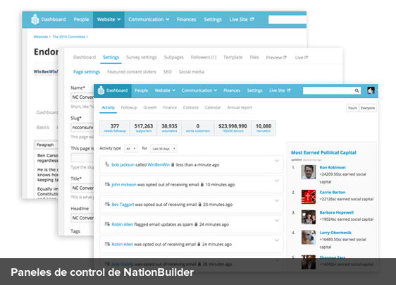 NationBuilder por dentro