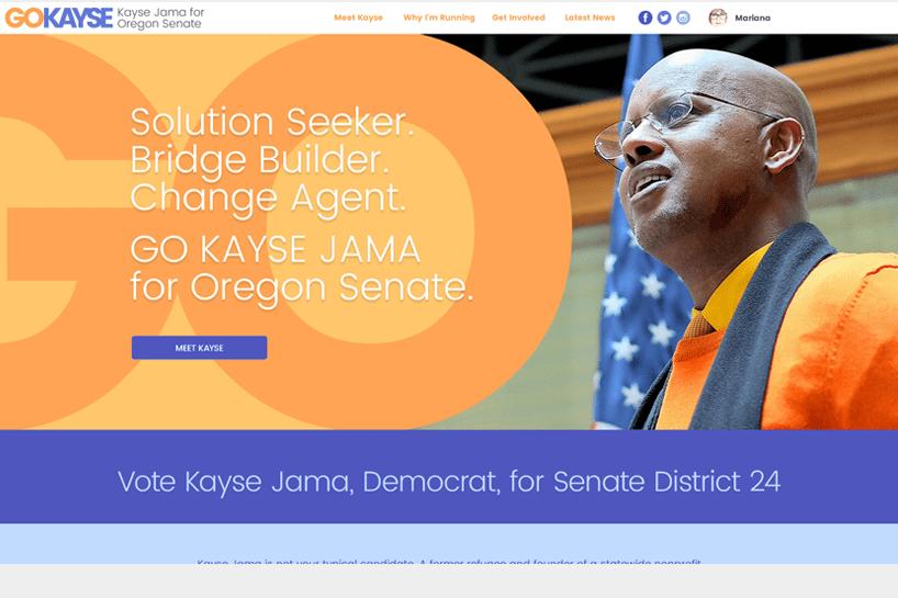 Kayse Jama for Oregon Senate. <a target='_blank' href='http://www.kaysejama.com'>Check it out.</a>