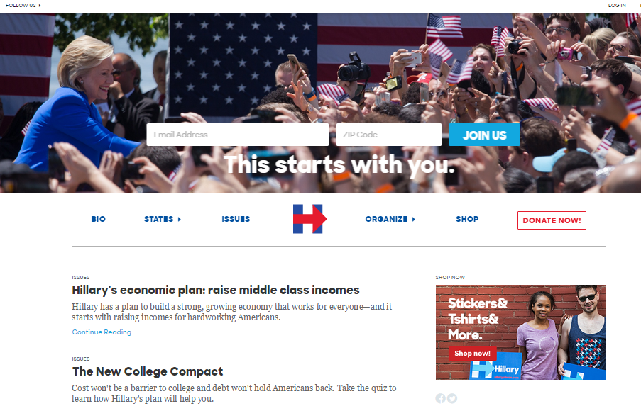 Issues aside. An Analysis of the 2016 Presidential Candidates' Websites and Digital Campaigns