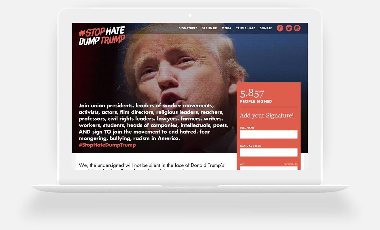 Stop Hate Love Trump
