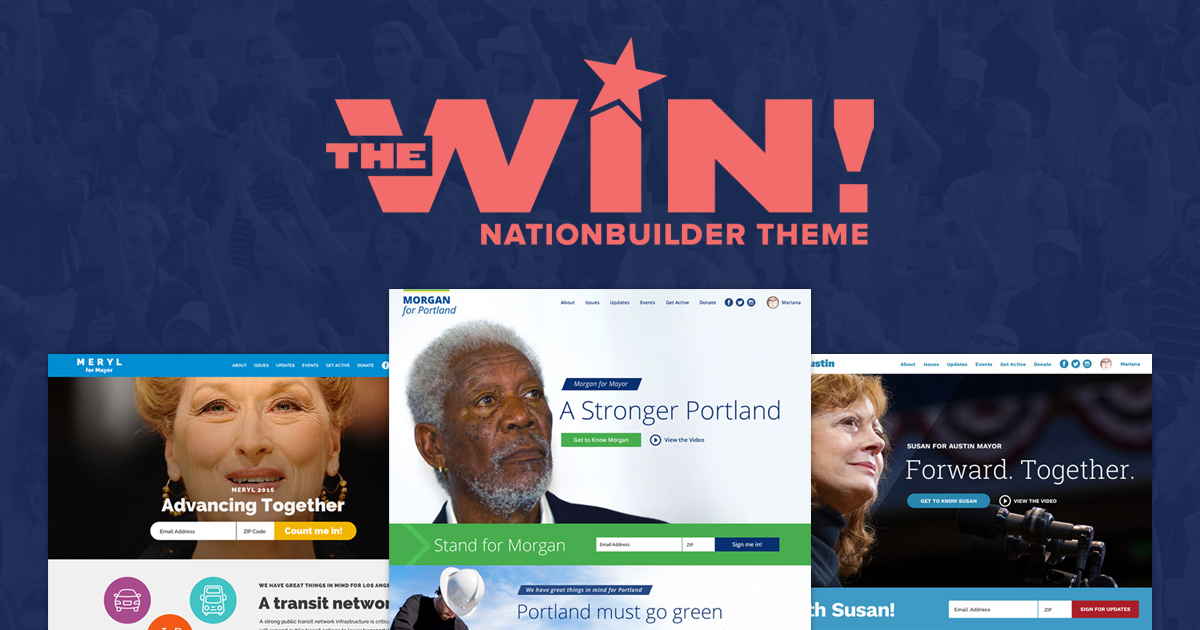 Introducing the Win! NationBuilder Theme