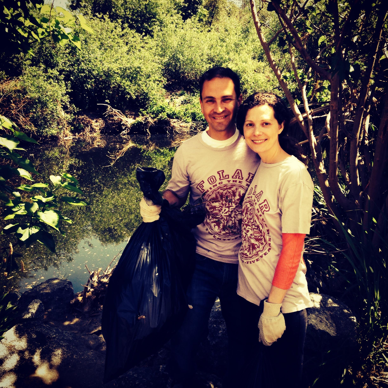 Teddy with wife, Emily Turner Davis