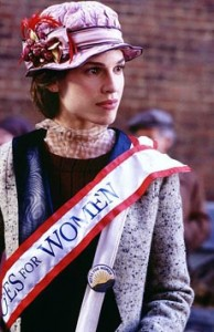 Relax.  No one's going to harm Alice Paul or any one who portrays Alice Paul