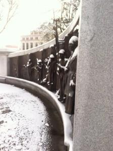 AfricanAmerican Monument Snow