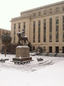 horsein snow