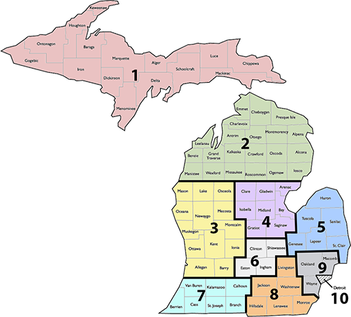 MASA Region Map