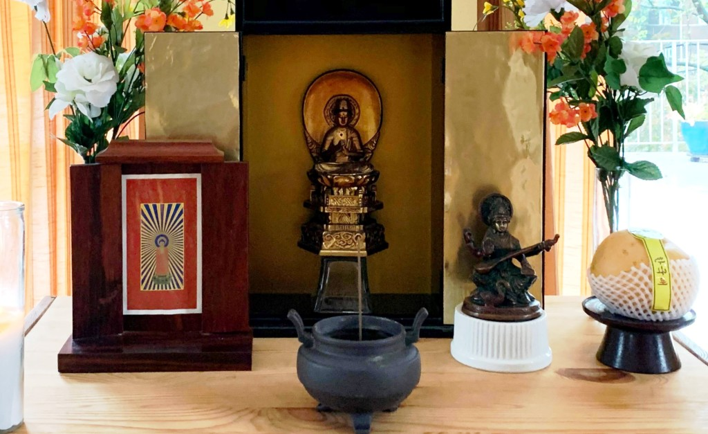 Dainichi with Amida and Benzaiten