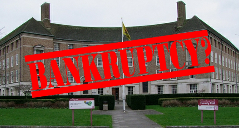 Opposition says Somerset County Council is 'on the brink of bankruptcy'