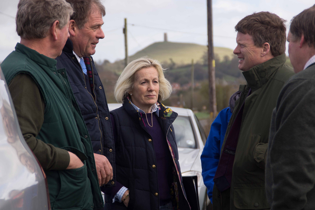 Tessa and the Flooding Minister on the Somerset Levels