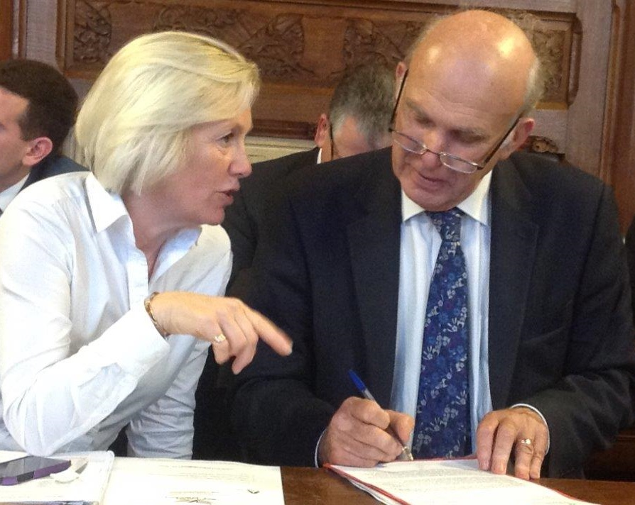 Tessa and Vince Cable