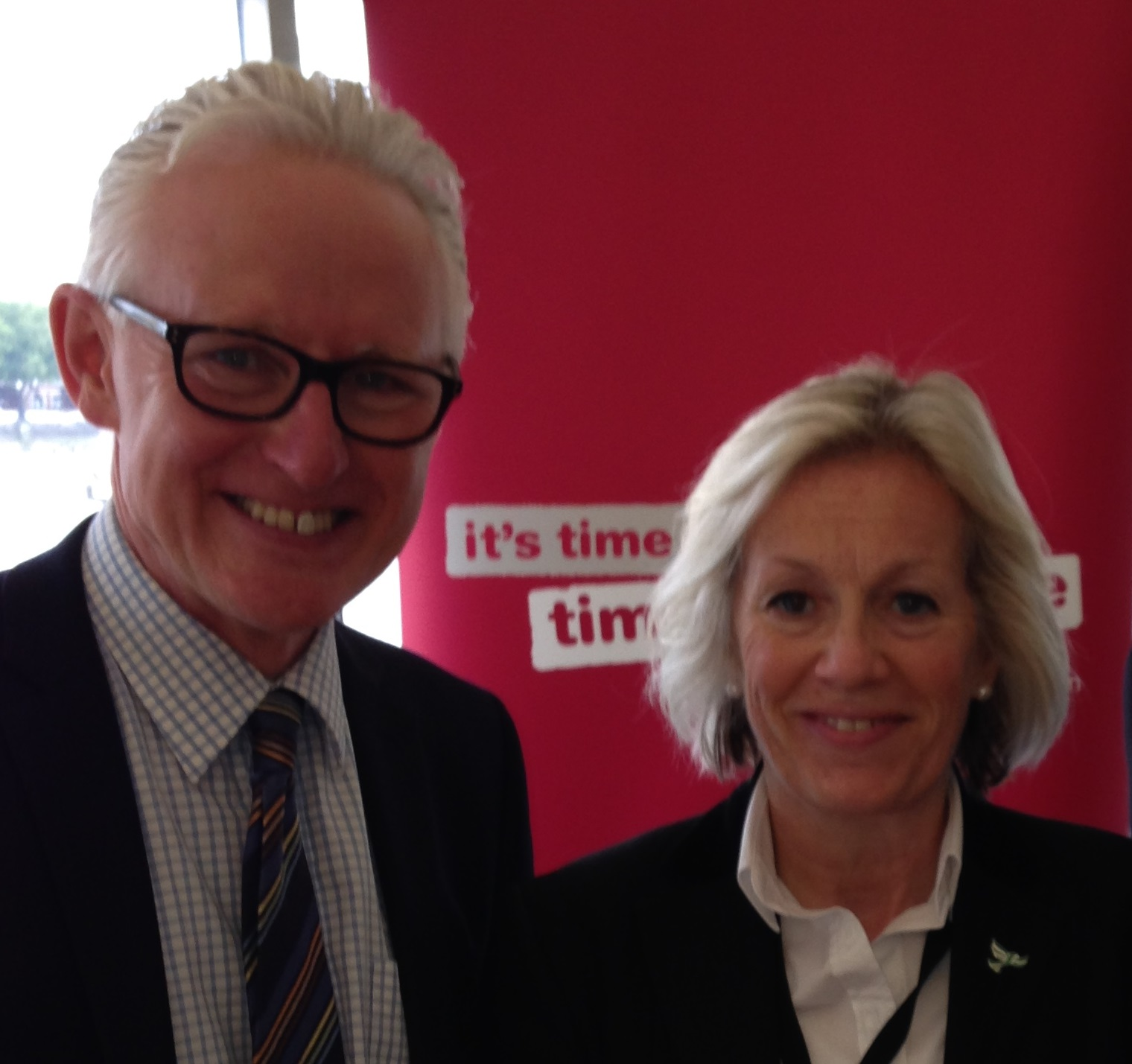 Tessa and Health Minister Norman Lamb