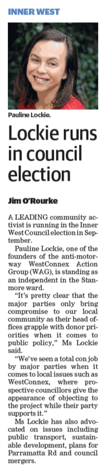 The original story in the Inner West Courier