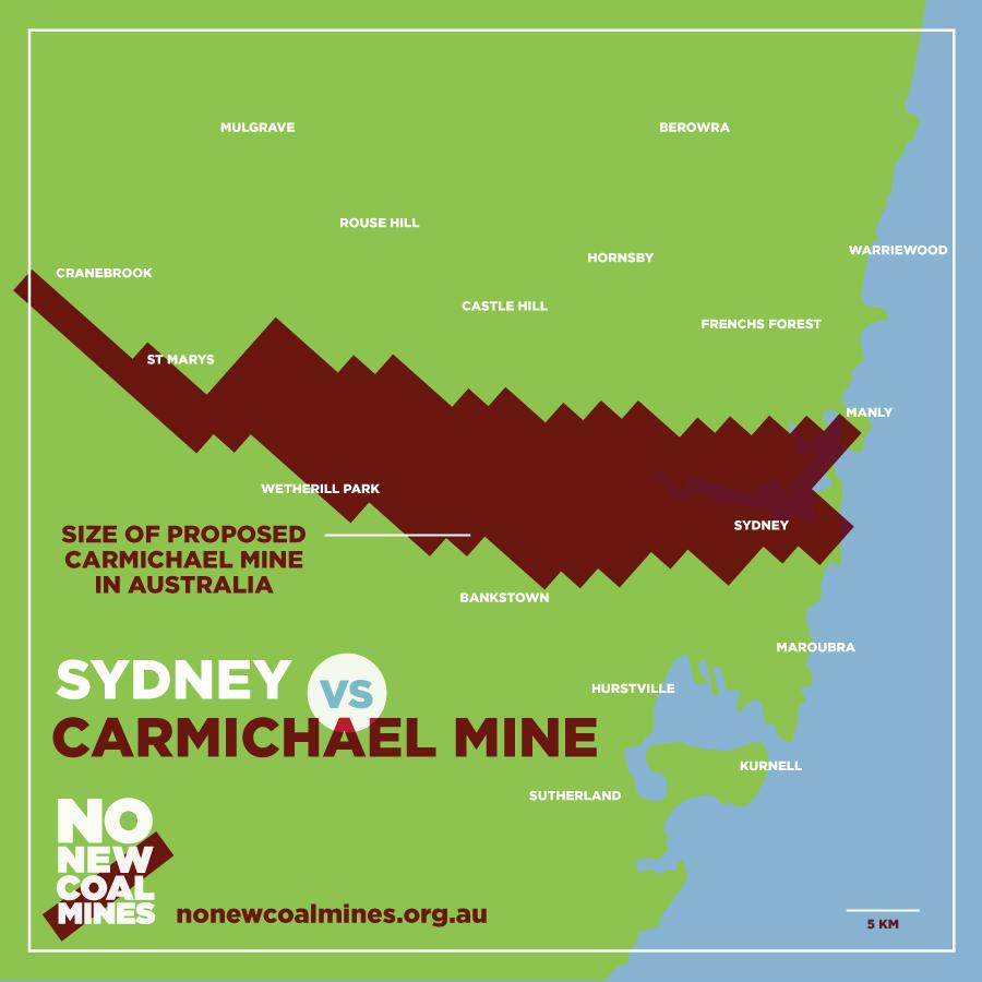 Sydney vs Carmichael mine