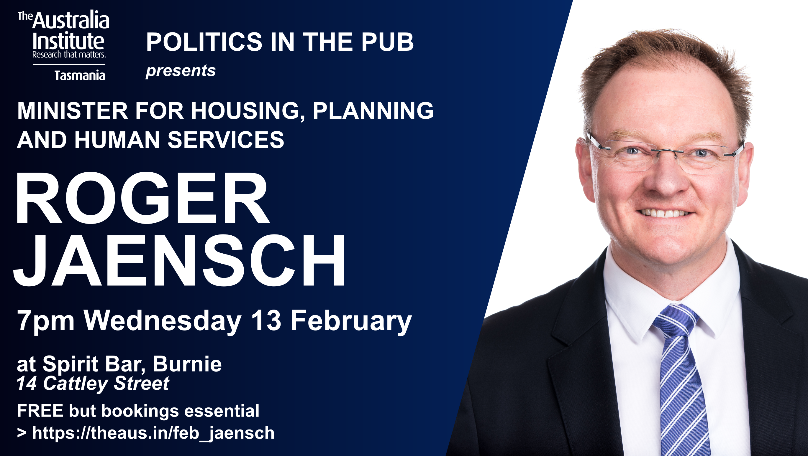 Invitation to Roger Jaensch Politics in the Pub