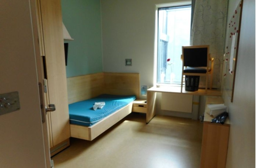 A cell in Norway's Halden Prison