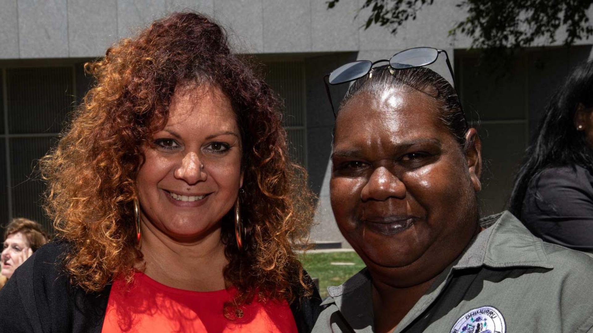 Velda Winunguj with Senator McCarthy
