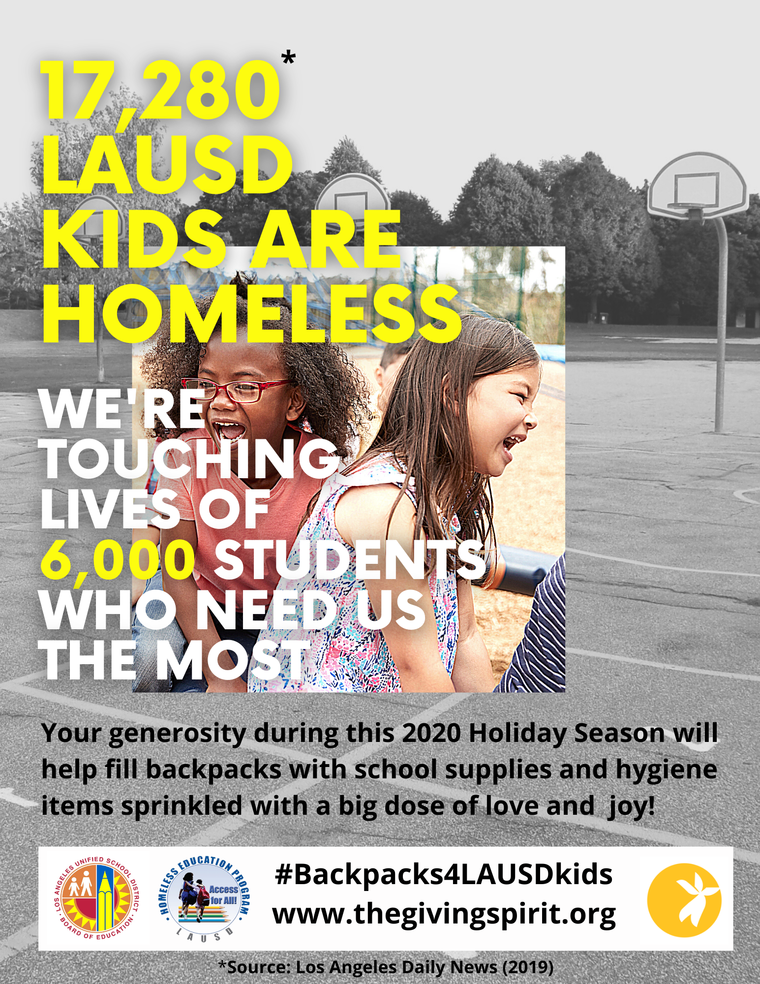 Backpacks 4 LAUSD KIds Poster