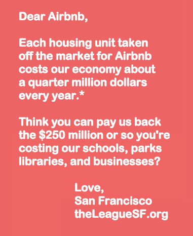 Dear Airbnb, Can You Pay Us Back?