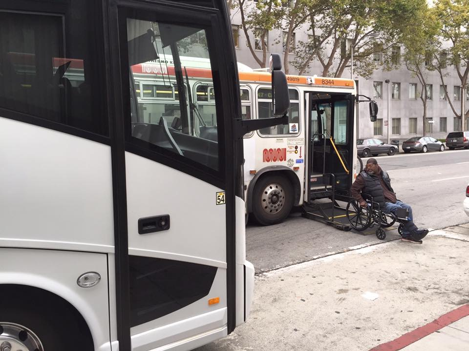 Tech bus blocking Muni