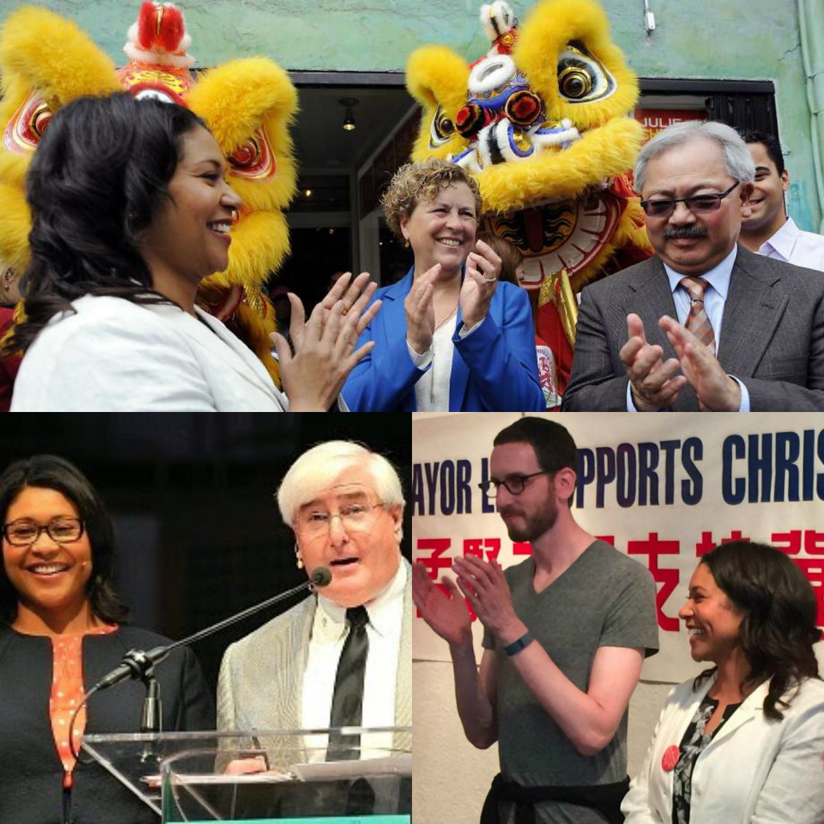 London Breed, Ed Lee, Julie Christensen, Ron Conway, Scott Wiener