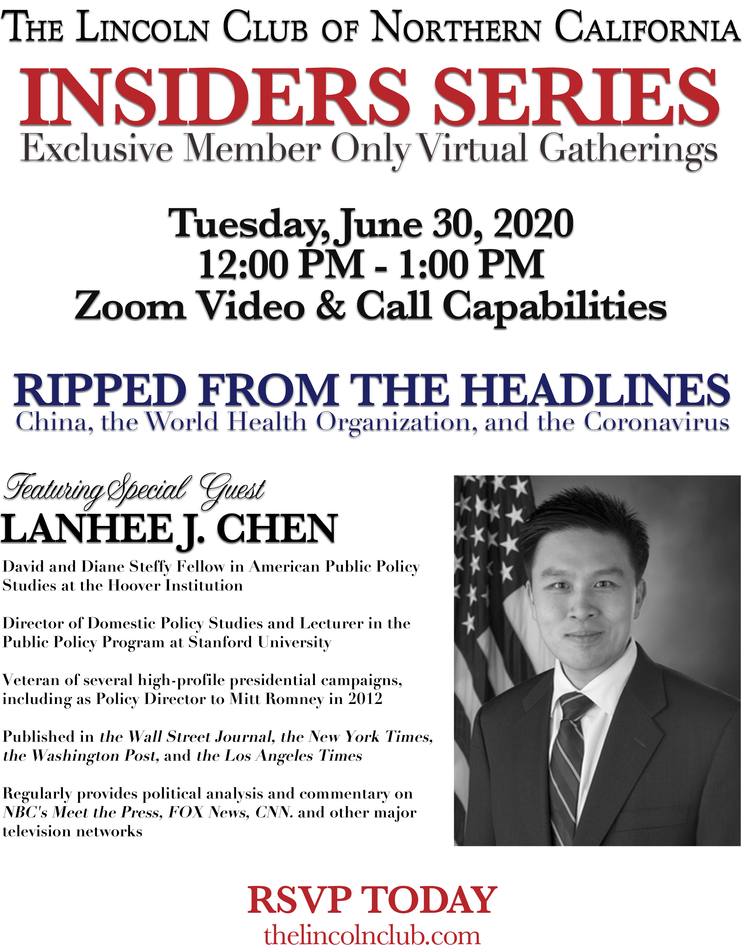 Insiders Series with Lanhee Chen Invite