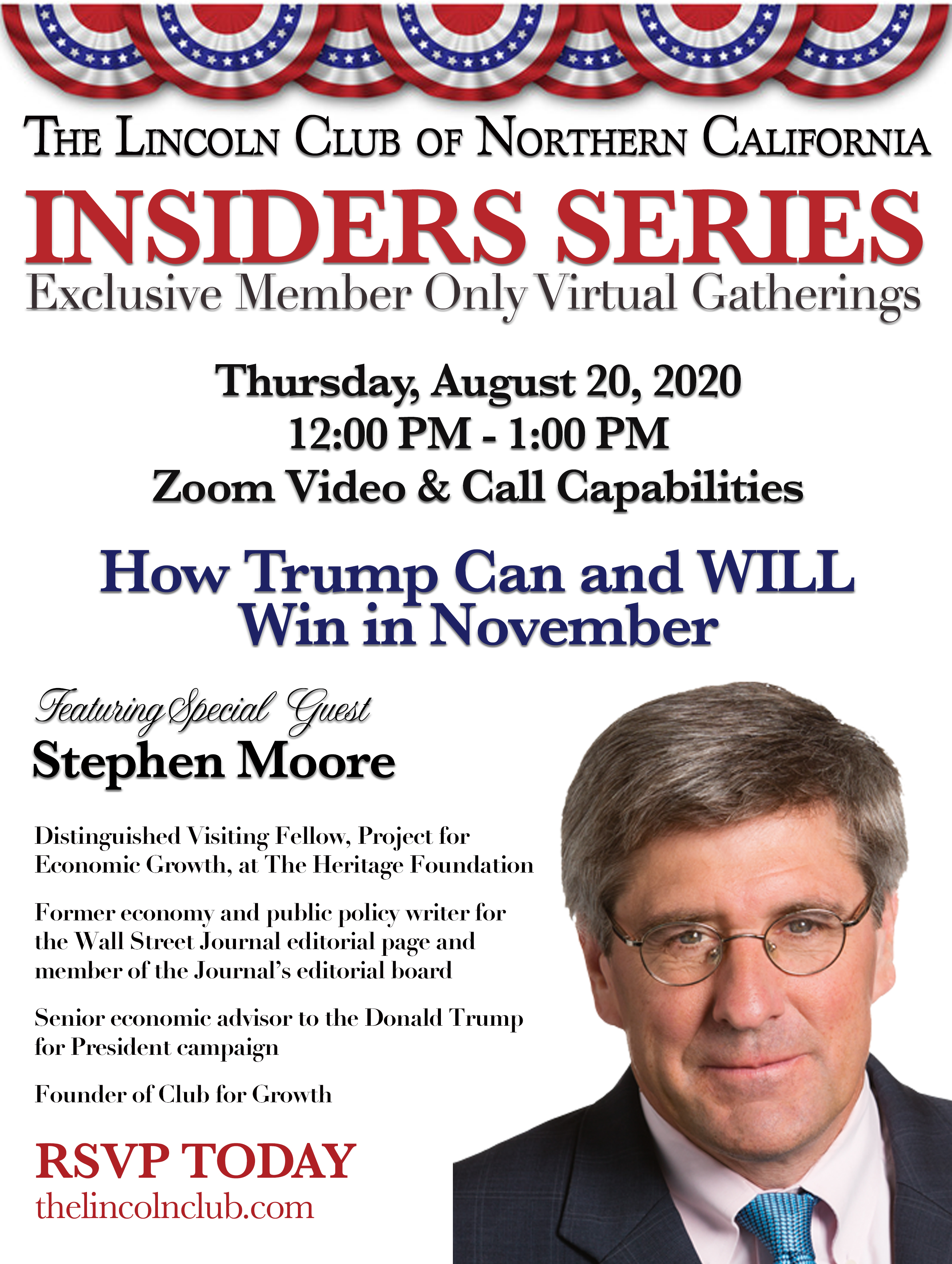 Insiders Series with Stephen Moore Invite