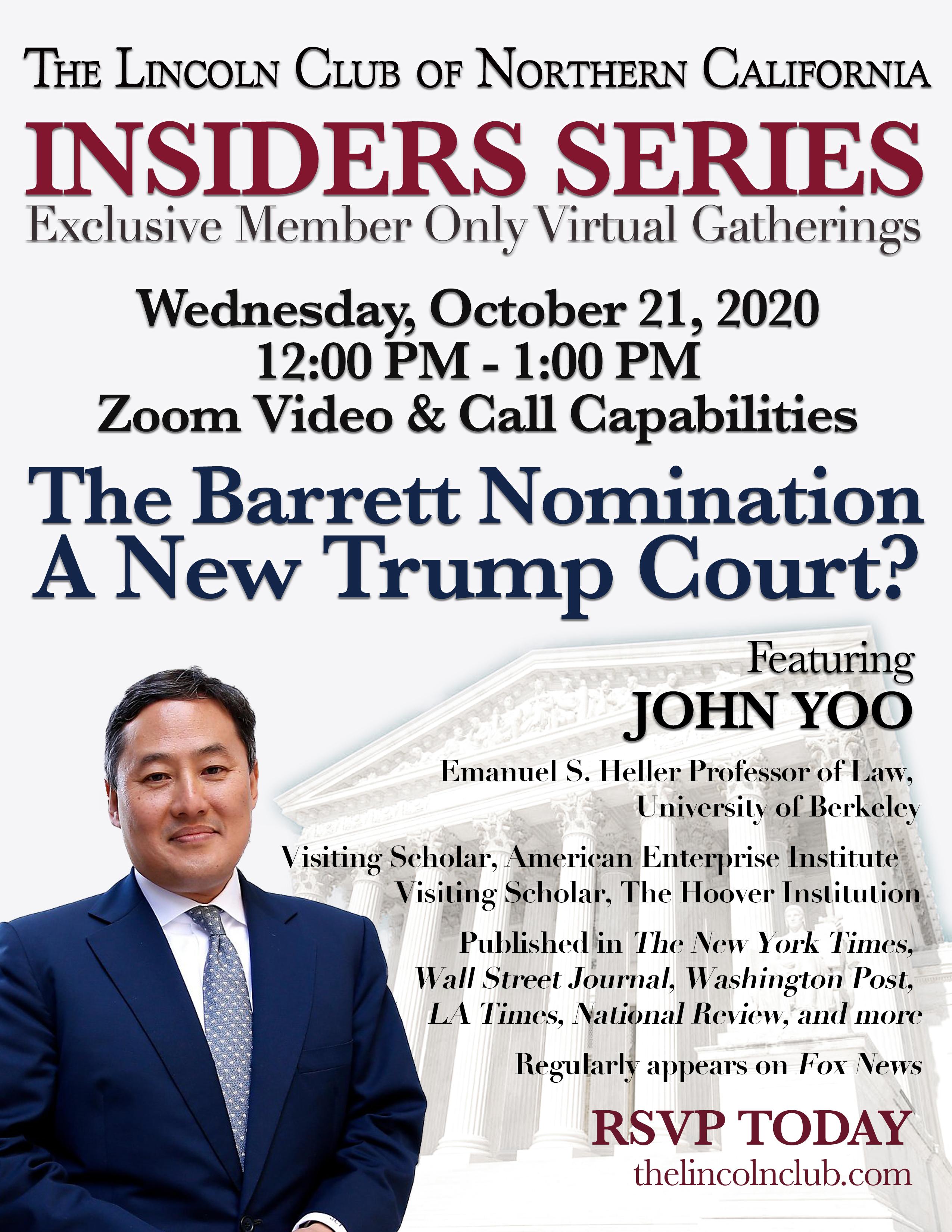 Insiders Series with John Yoo Invite