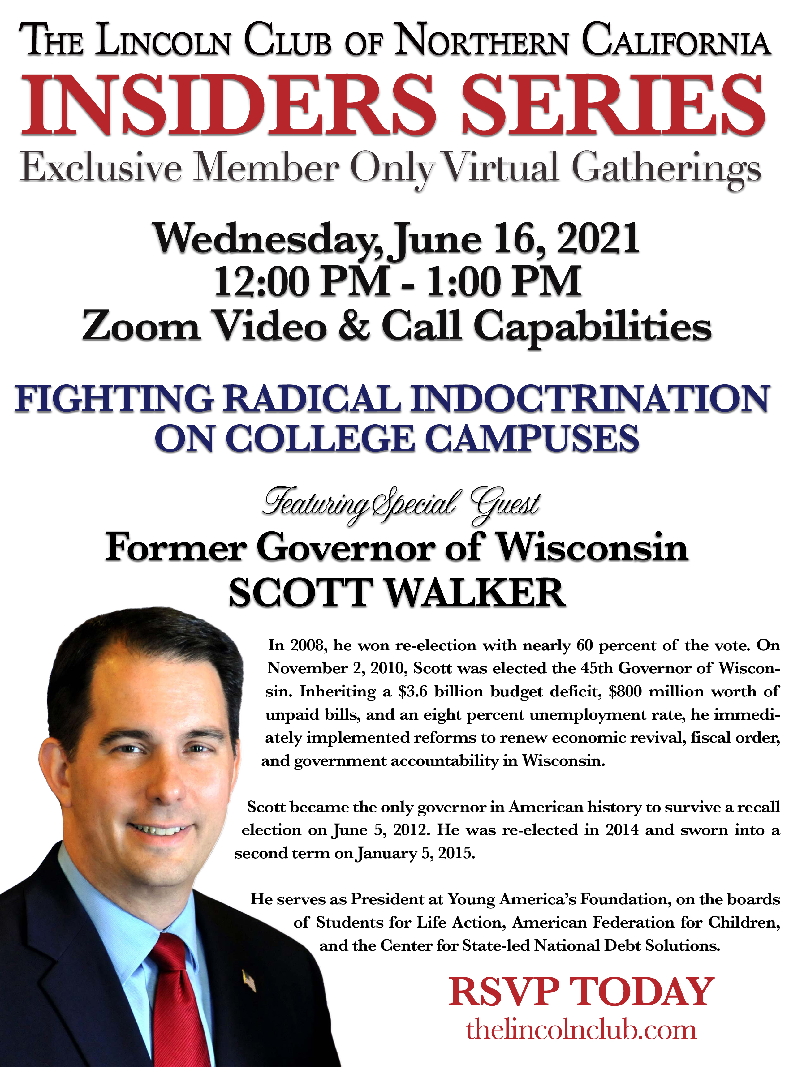Insiders Series with Gov. Scott Walker