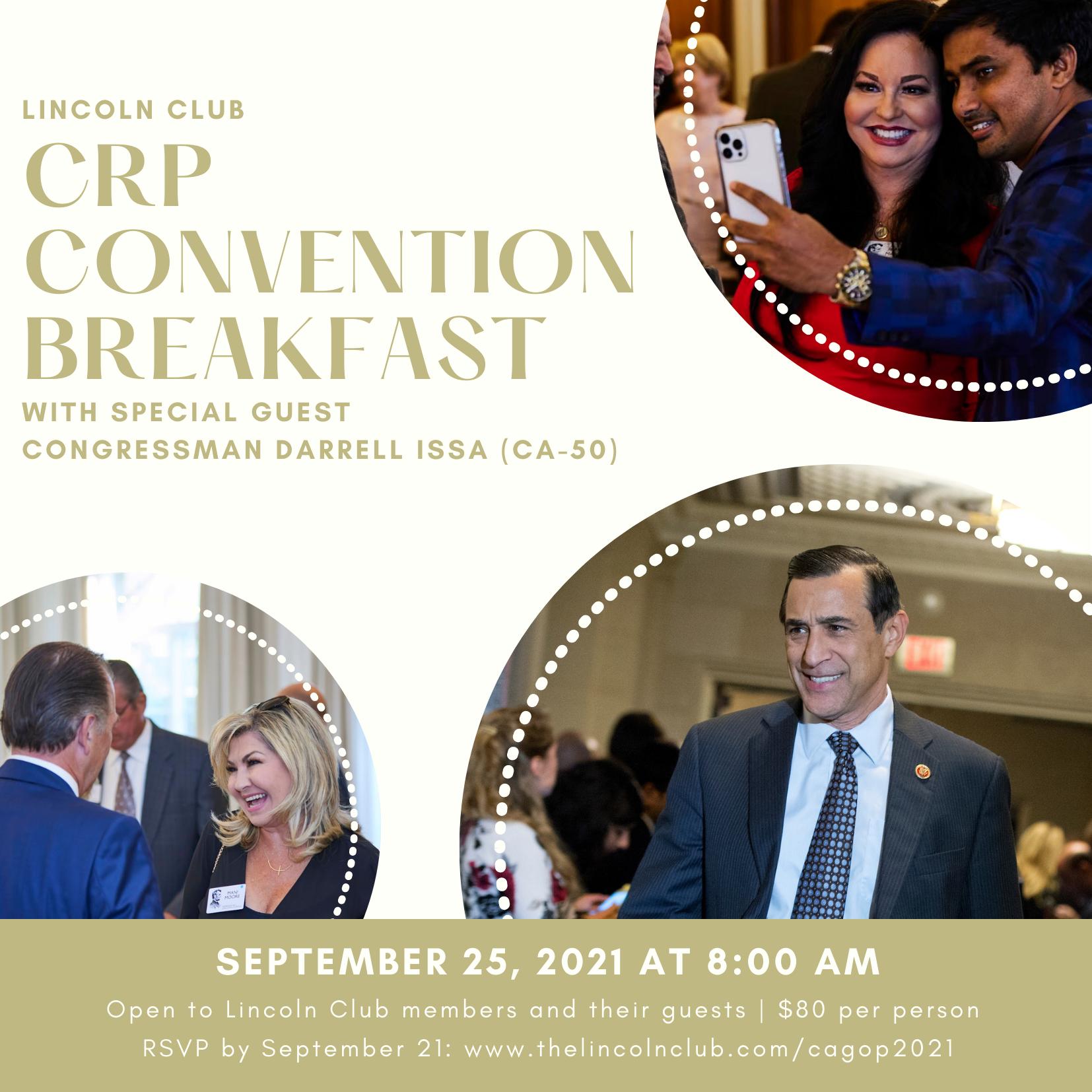 Lincoln Club Breakfast Invite