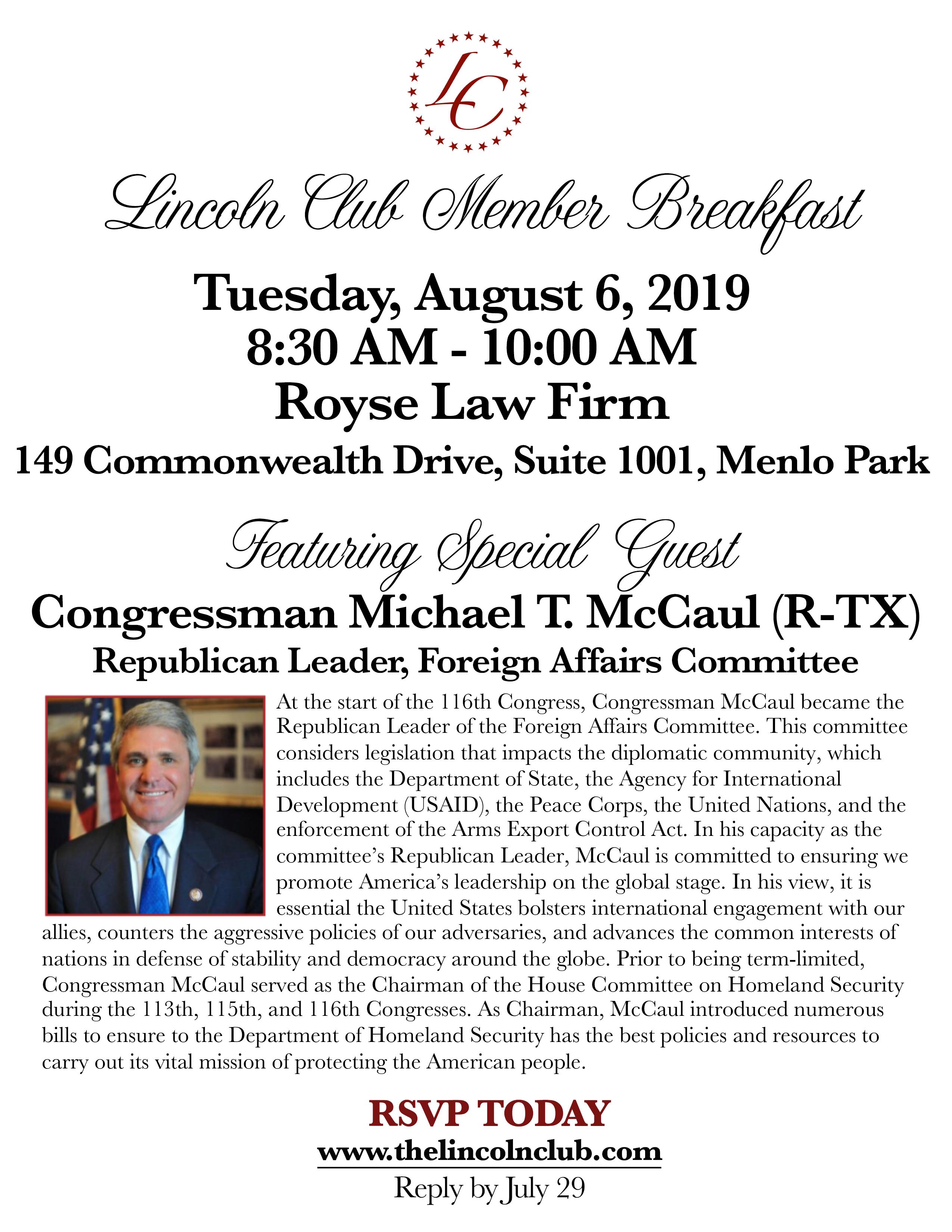 McCaul Invite