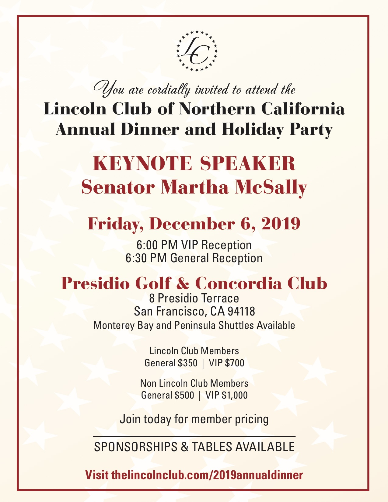2019 Annual Dinner Invite