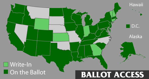 Ballot Access Map