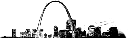 Drawing of St. Louis Cityscape