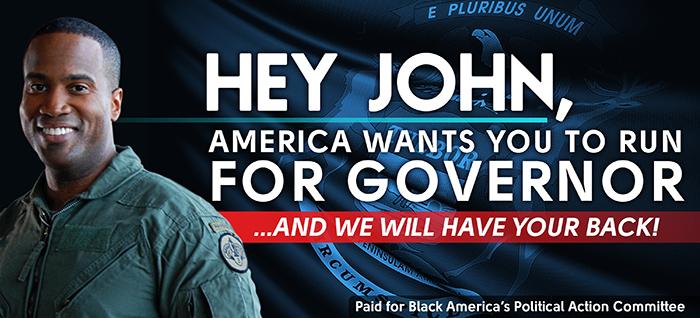 Draft John James for Governor