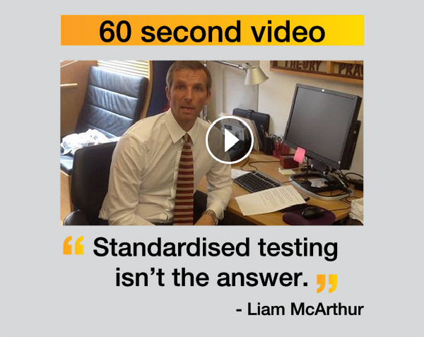 Liam McArthur - standardised testing isn't the answer